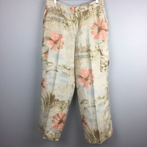AWESOME TOMMY BAHAMA LINEN WIDE LEG PANTS SIZE 10